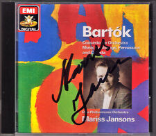 Mariss JANSONS Signed BARTOK Concerto for Orchestra Music Percussion Celesta CD