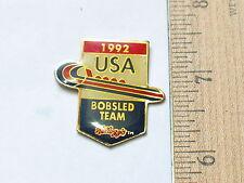 Bobsled Team Pin   1992  USA Bobsled Racing  Vintage  Pin  Kellogg's (Ski#240)