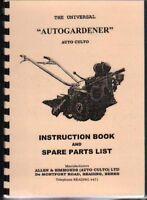 Auto Culto Autogardener Garden Tractor Instruction Book