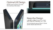 Black Ultra Thin Hard Matte Case Cover Shiny Clip On For Apple iPhone 5 5G & 5S