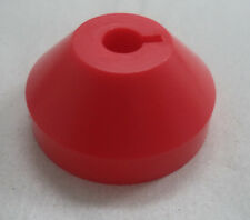 "1 Plastic Dome Adapter Insert for 7"" 45 RPM Vinyl Record (Adaptor, Red, One)"