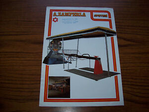 ZAMPERLA SPUTNIK BOARDWALK ARCADE GAME FLYER 1979