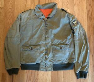 Polo Ralph Lauren Olive Green/Orange Reversible Bomber Light Jacket ~ Men's XXL