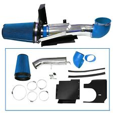 "4"" Cold Air Intake Kit Heat Shield for GMC/Chevy V8 4.8L/5.3L/6.0L Blue"