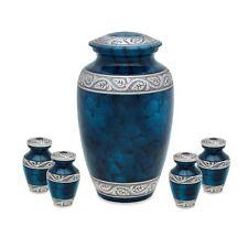 Middleton Blue Adult Cremation urn with Four token set