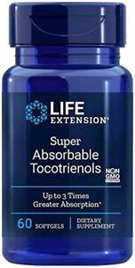 SUPER ABSORBABLE TOCOTRIENOLS VITAMIN E 60 Sgels Life Extension