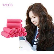 12Pcs Magic Sponge Foam Cushion Hair Styling Rollers Curlers Twist Tool