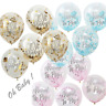 "Oh Baby 12"" About to Pop Confetti Balloons Baby Shower Party Decoration x 5"