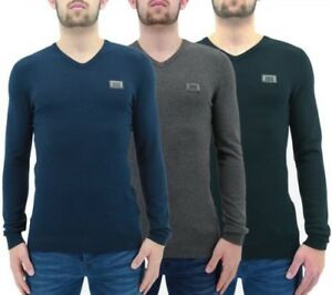 Hommes Pull Born Rich By Money Clothing Indium Col V Pull Tricot