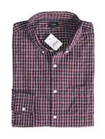 J.Crew Factory - Men's L - Regular Fit - Red/Navy Blue Plaid Washed Cotton Shirt