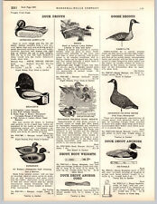 1949 PAPER AD Carry Lite Deeks Dean-Coys Johnson's Folding Duck Decoys Duraduck