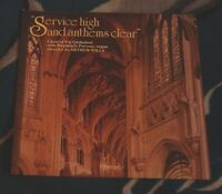 ELY CATHEDRAL CHOIR SERVICE HIGH AND ANTHEMS CLEAR UK LP HYPERION - PREVOST