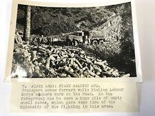 "ORIGINAL 6X4"" WW2 PHOTO Italian Labour Corps Work On Road Fifth Army Fights Mud"