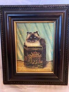 Paul Stagg Framed Cat The Bombay Company Vintage The Empress Cat