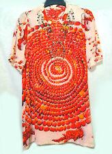 Coral Stone Printed Silk Top