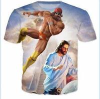 2018 Hot Fashion Womens/Mens Macho man Funny 3D Print Casual tops T-shirt PQ1