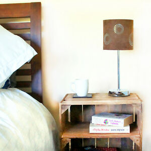 2 x BEDSIDE CABINETS - Handmade UK Rustic Reclaimed Vintage Wood - FREE DELIVERY