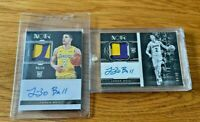 Lonzo Ball 2017-18 Panini Noir 2X RPA LOT RC Rookie Patch AUTO #'d 99/99 + 84/99