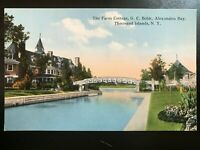 Vintage Postcard>1907-15>Farm Cottage>G.C.Boldt>Alexandria Bay>1000 Islands>NY