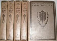THE WORKS of EDGAR ALLAN POE! non leather set Centenary Edition horror RARE!gift