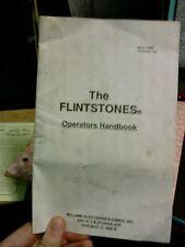 Williams THE FLINTSTONES Pinball Machine Fast Instruction Booklet-used original