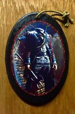 "Sleepy Hollow-Headless Horseman Handmade Halloween Ornament Decor ""Red Sparkle�"