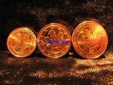 Monnaie 1,2,5 centimes cent cts euro Allemagne 2011 F, neuves du rouleau, UNC