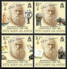 Pitcairn Islands 686-689, MNH. C. Darwin,naturalist.Fossil,Iguana,Birds,Ape,2009