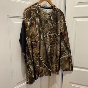 Realtree Camo Men's Hunting Shirt Long Sleeve Size XL