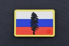 3D PVC Russian Cascadia Flag Patch Rushing Russians Milsim West MSW Spetsnaz GRU