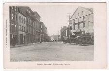 Depot Square Fitchburg Massachusetts 1905c postcard