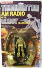 RARE RADIO SHACK TRANSISTOR AM RADIO w/ ROBOT HEADPHONES TRANSFORMERS SEALED MOC