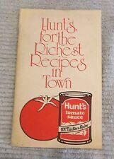 Vintage 1981 Hunt Wesson Foods Hunts Tomato Sauce Old 6x9 Recipe Booklet FREE SH