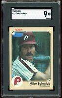 1983 Fleer #173 Mike Schmidt Graded SGC 9 = PSA 9? MINT Phillies HOF