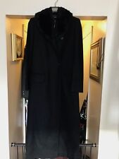 Versus by Gianni Versace Black Ladies DRESS  COAT Faux Fur collar SZ 42 Vintage