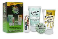 TATTOO GOO Complete After Care Kit for Skin Ointment Cream Lotion and Soap