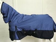 1200D BLUE/BLACK 300G WINTER STABLE HORSE COMBO RUG - 5' 9