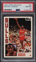 1992 Topps Archive Michael Jordan #52 PSA 10 Gem Mint ('84 Rookie Retro)