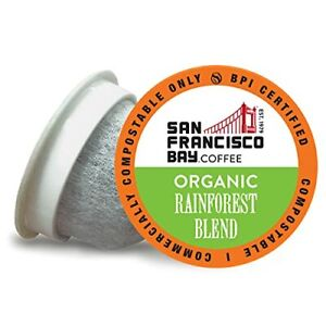 SF Bay Coffee OneCUP Organic Rainforest Blend 80 Ct Medium Roast Compostable ...