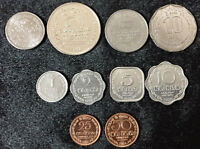 SRI LANKA SET OF 10 COINS 1 2 5 25 50 CENT 1 2 5 10 RUPEE 1978-2016 UNC