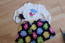 NWT GIRLS GYMBOREE SZ 6 SHIRT, SKIRT, HEADBAND FLOWER SHOWERS