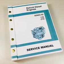 GM DETROIT DIESEL SERIES 92 V92 6V92 8V92 16V92 ENGINE SERVICE REPAIR MANUAL