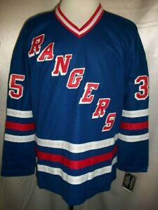 "Mike Richter New York Rangers Blue & Red ""1990-1997 Throwback"" CCM NHL Jersey"
