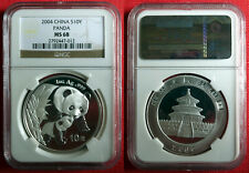 2004 Chinese Silver Panda 1oz .999 Bullion Coin. NGC MS 68