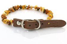 "Raw Baltic Amber Anti-Tick Anti Flea Dog Collar Necklace 25-30cm / 9.7-11.7"" 7"