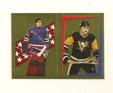 1986-87 O-Pee-Chee Gold Foil Sticker #114/128 Vanbiesbrouck Rookie & J.Johnson