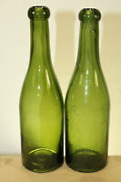 ANTIQUE HAND BLOWN WINE BEER SODA  BOTTLE BLOB TOP LOT OF 2