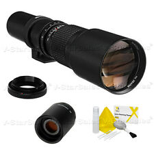 Bower 500mm/1000mm F8 Preset Telephoto Lens for Canon Cameras