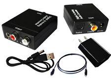 3.5 Digital Optical Toslink SPDIF Coax to Analog L/R RCA Audio Adapter Converter