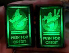 2 Arcade1up LED Coin Buttons with Custom USB Power Cord & Switch Wires! Ghost B.
